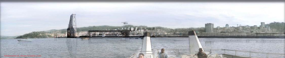 Concurso de ideas Remodelación Puerto de Vigo. Proyecto ganador en colaboración con Jean Nouvel